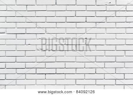 White Brickwork Wall Pattern Texture