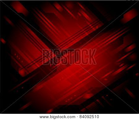 Dark red abstract background vector