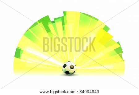 Light Banner Round Form With Soccer Ball