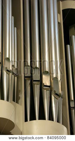 Church organ detail  musical instrument