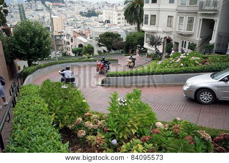 Lombard Street San Francisco Motor Cycles