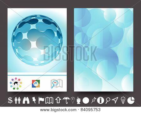 Brochure Design Blue