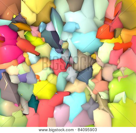 Abstract Shape Backdrop In Multiple Bright Color