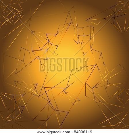 Geometrical gold background vector
