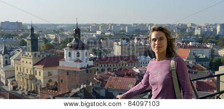 Tourist In Lublin, Poland