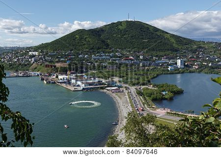 Summer View Of Port Petropavlovsk-kamchatsky. Kamchatka Peninsula, Russia