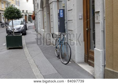 Bike On The Street In The City