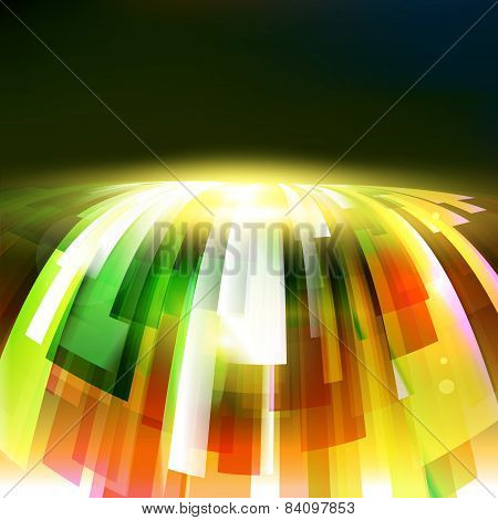 Abstract Energy Wave At Dark Background