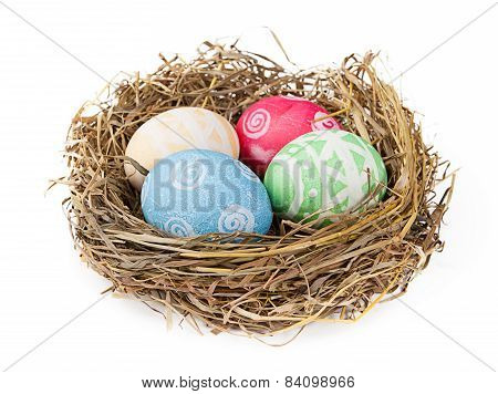 Nest And Easter Eggs