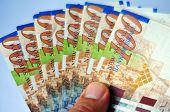 stock photo of shekel  - One Hundred Shekel Bills isolated on white - JPG