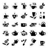 stock photo of black tea  - Tea icons - JPG