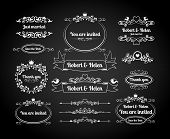 pic of divider  - Chalkboard calligraphic page dividers - JPG