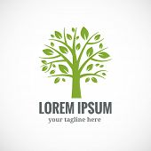 pic of ecology  - Green tree vector logo design template - JPG