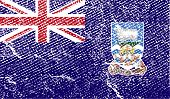 pic of falklands  - Flag of Falkland Islands with old texture - JPG