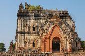 pic of nu  - old beautiful Burmese pagoda in Inwa Myanmar - JPG
