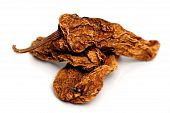 picture of chipotle chili  - Mexican chipotle chilies smoke dried used to make salsa and meat marinades - JPG