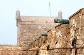 pic of cobweb  - old fortress in Essaouira - JPG