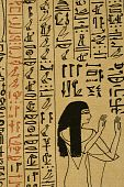 foto of lithographic  - Photo of 1877 lithograph of funerary papyrus - JPG