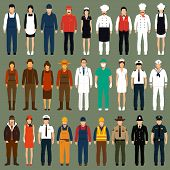 picture of postman  - vector icon workers - JPG