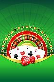 pic of four-wheel  - Abstract gambling background with roulette wheel - JPG