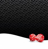 stock photo of crap  - Gambling background with two red playing dices - JPG