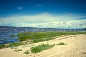 image of hot-weather  - Sea coast in the spring in hot weather - JPG