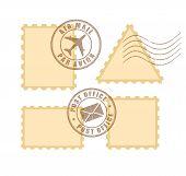 Постер, плакат: Blank postage stamp