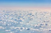 pic of aeroplan  - Beautiful sky with clouds a view from an aeroplane above the clouds - JPG