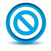 stock photo of bans  - Blue ban icon on a white background - JPG