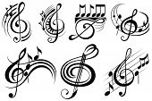 image of g clef  - Music notes - JPG