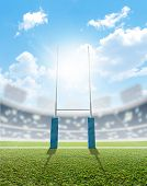 Постер, плакат: Rugby Stadium And Posts
