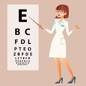 foto of eye-sockets  - The doctor ophthalmologist examines your eyes near the table to check the view - JPG