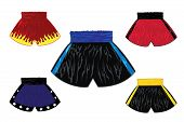 picture of boxer briefs  - This is Illustration of boxing shorts set - JPG
