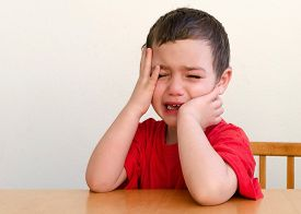 picture of cry  - Portrait of unhappy upset crying child boy - JPG