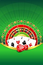 image of four-wheel  - Abstract gambling background with roulette wheel - JPG