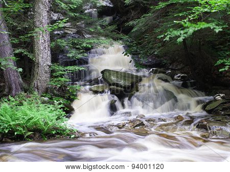 Running Water Over Rocks
