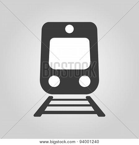 The Train Icon. Railway Symbol. Flat