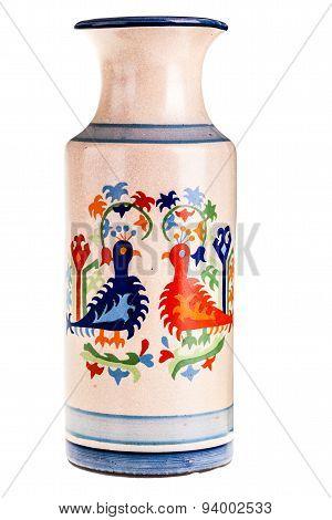 Old Painted Vase