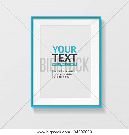 Vector picture frame vector A4 blue