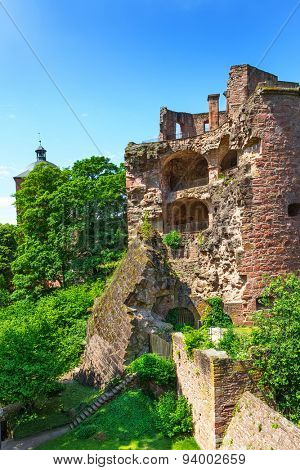 Vertical image of Heidelberg Castle. Germany, Europe