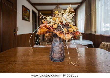 Dried Flowers Vase