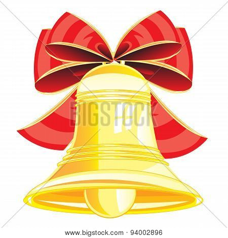 Gold bell and bow