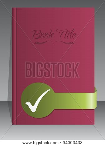Simplistic Book Cover Design With Check Mark