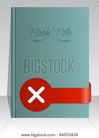 Simplistic Book Cover Design With Cross Mark