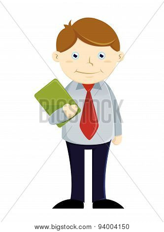 Businessman Holding Paper Work
