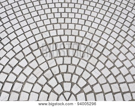 Tiles Floor With Radial Pattern