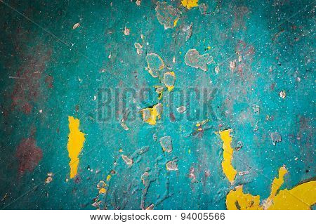 Green Grunge Iron Rust Texture And Background