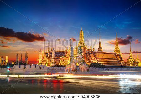 Wat Phra Kaew in Bangkok Thailand
