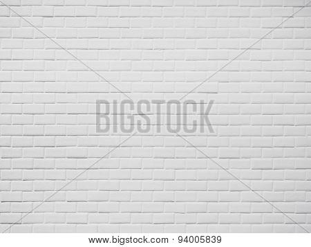 White Brick Wall Pattern Texture Surface