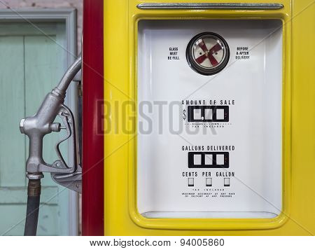 Vintage Gas Pump Close Up